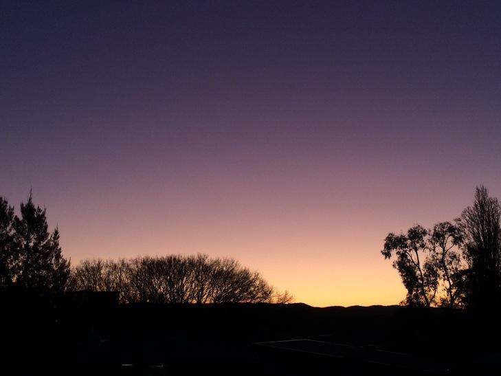 Colourful sunset near the hospital